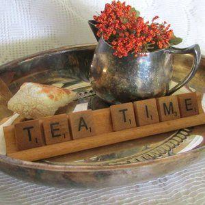 Vintage Display Photo Prop Tea Time